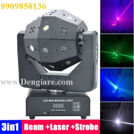 Đèn moving led laser flash 3 in 1